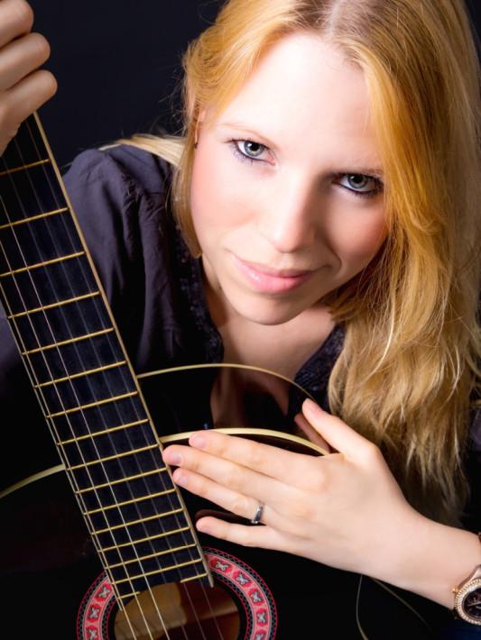 Portrait Gitarre Closeup