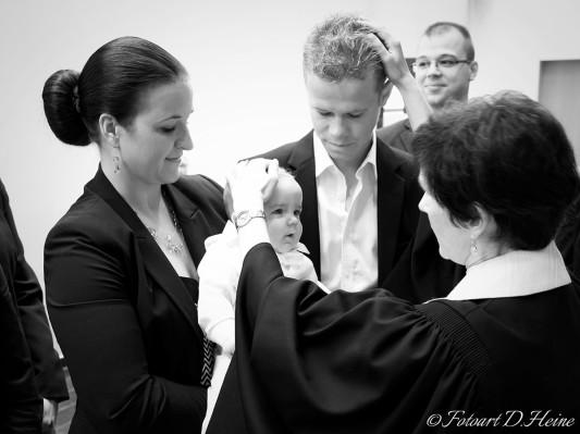 Segnung bei der Taufe